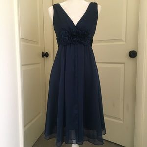 Adrianna Papell Navy Blue Occasion Dress